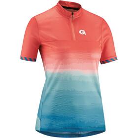 Gonso Seolane Half-Zip SS Bike Jersey Women, rood/blauw